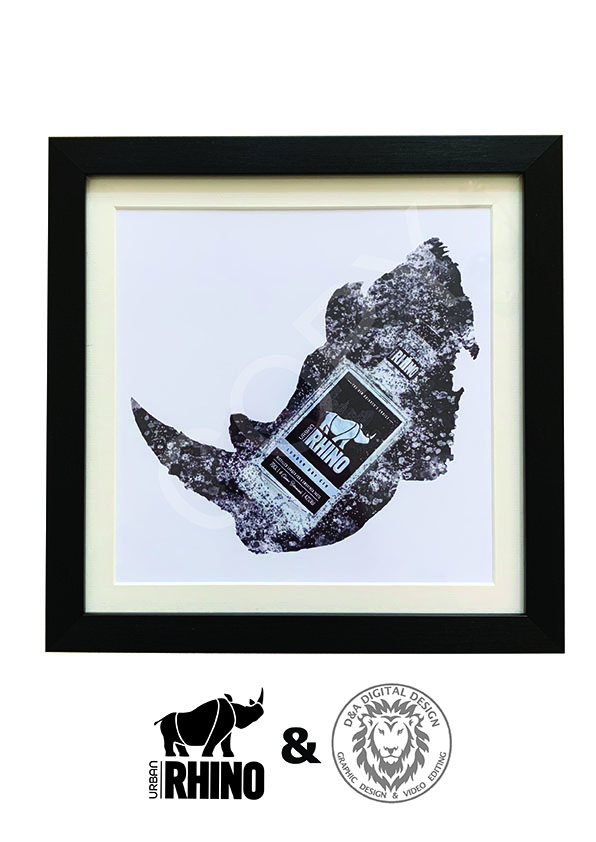 Urban Rhino Limited Edition Picture - Black Frame