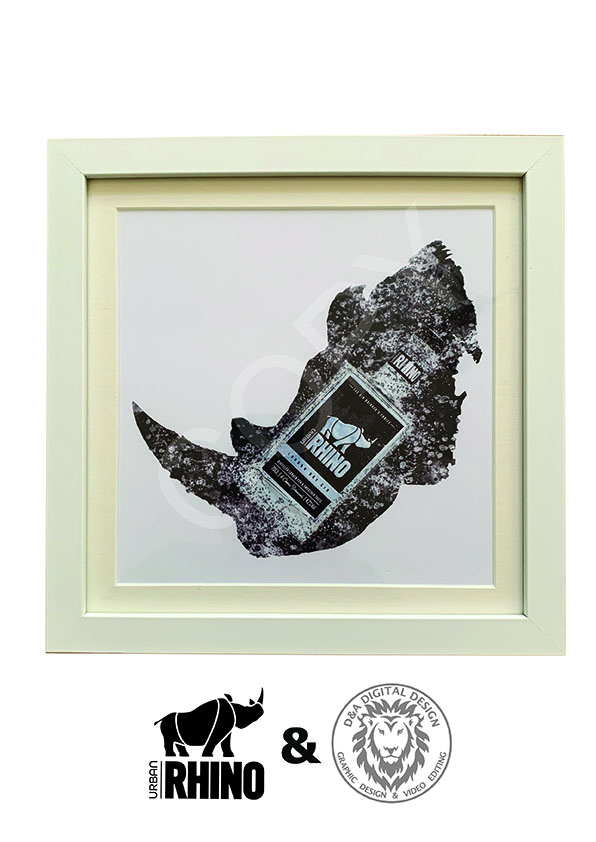 Urban Rhino Limited Edition Picture - White Frame