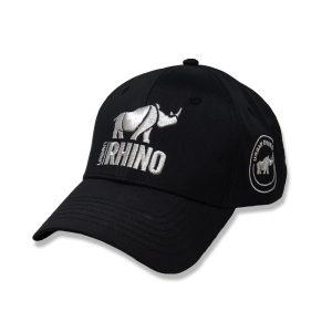 Urban Rhino Baseball Cap - black with silver logo