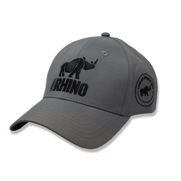 Urban Rhino Baseball Cap - grey with black logo