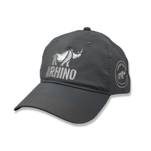 Urban Rhino Baseball Cap - grey with silver logo